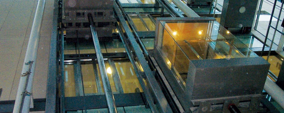 The scenic lifts at Oxford University