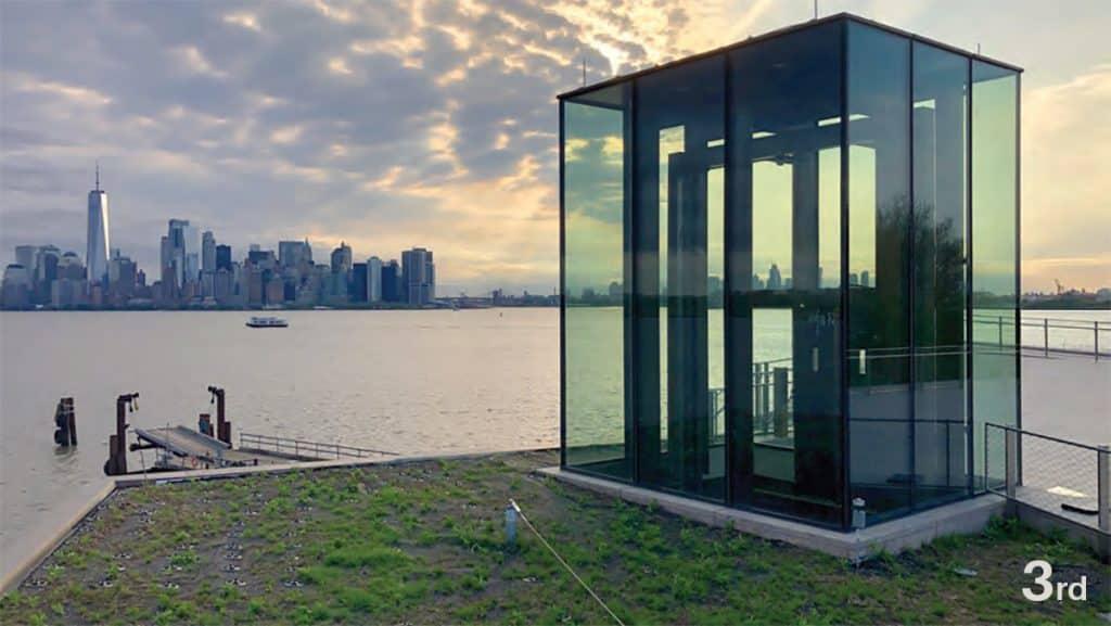 City Skylines & Tall Buildings - Liberty Island Museum Glass Elevator