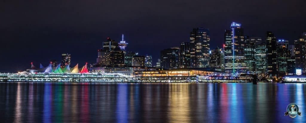 City Skylines & Tall Buildings - Vancouver Harbor Reflection