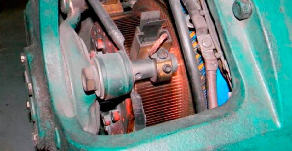 Carbon dust accumulation on the outside means it is inside the motor-generator, as well.