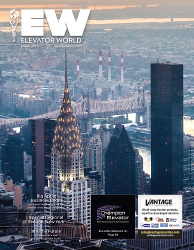 Elevator World | March 2020 Issue Cover