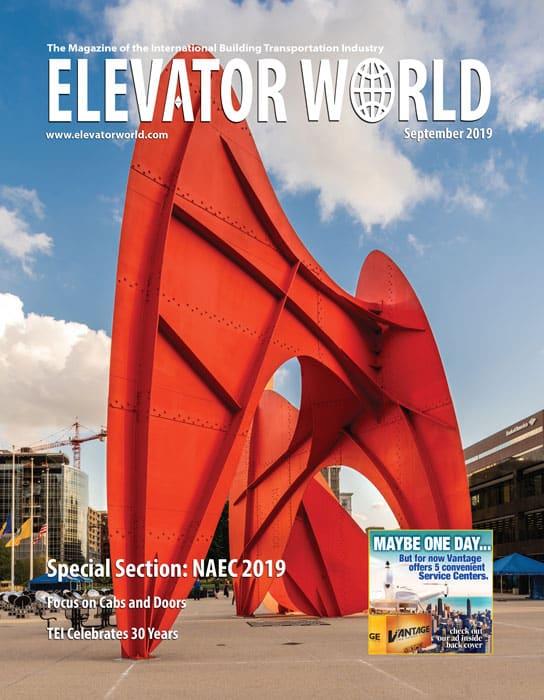 Elevator World   September 2019 Cover