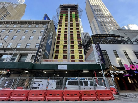 Times Square Marriott SpringHill Hits Halfway Point