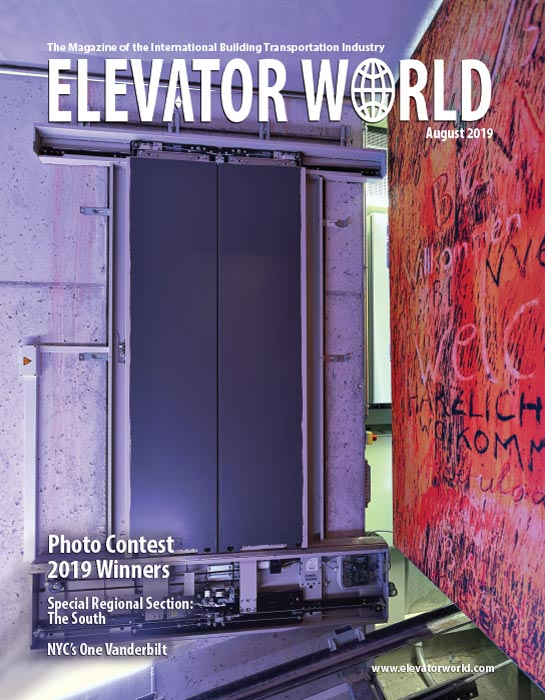 Elevator World | August 2019 Cover