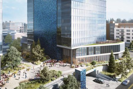 Construction Launches on Amazon's Bellevue 600 Tower