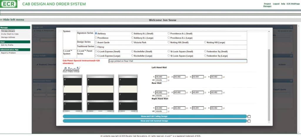 ECR Custom Elevator Interiors - Tool
