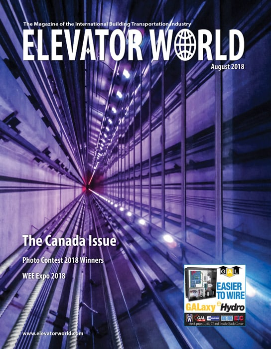 Elevator World | August 2018 Cover