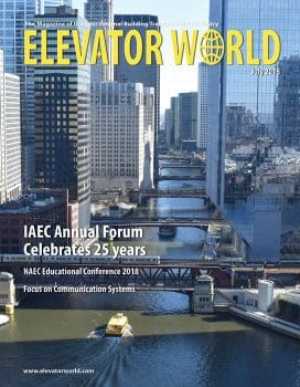 Elevator World | July 2018 Cover