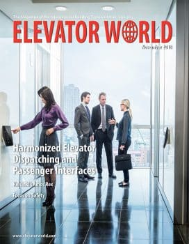 Elevator World | November 2018 Cover