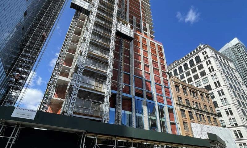 Façade Installation has Begun at 451 10th Avenue