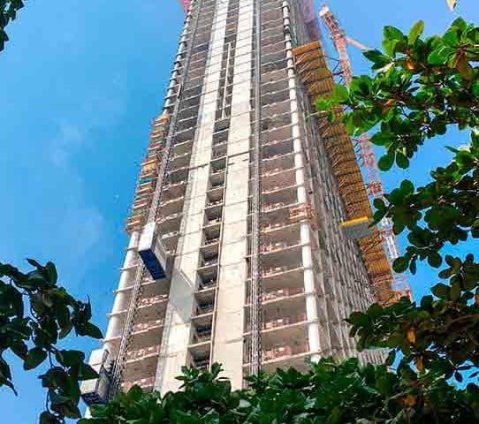 Mixed-Use-Tower-on-Dubais-Palm-Jumeirah-Nears-Completion