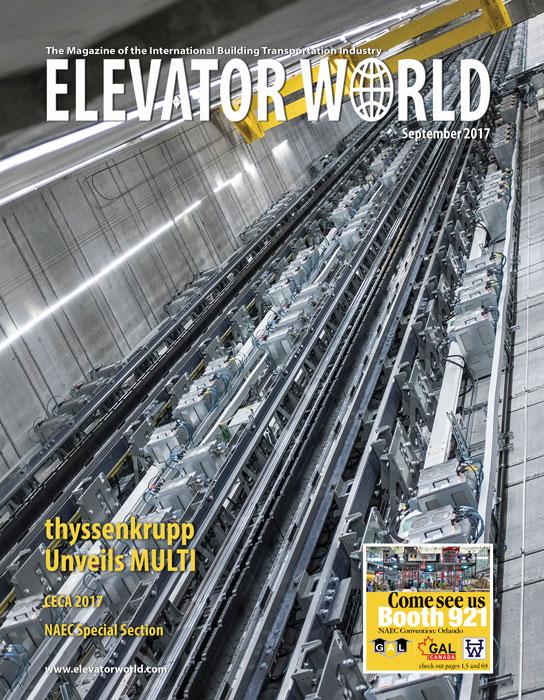 Elevator World | September 2017 Cover