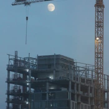 Skyscraper and Moon