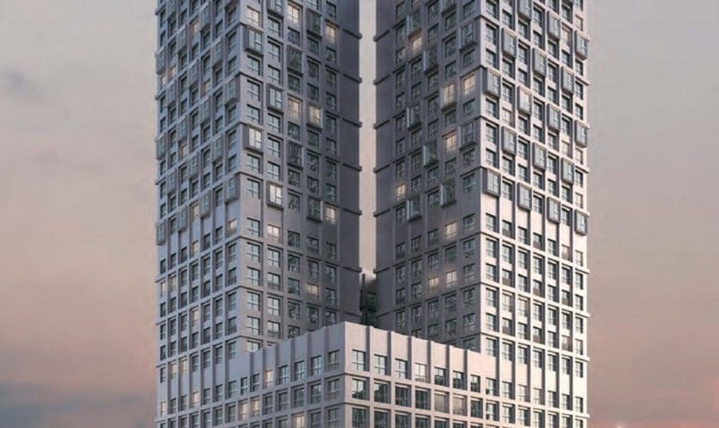 Pair of Pink Residential Towers Envisioned in Moscow