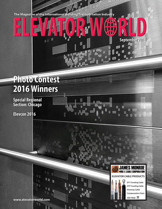 Elevator World | August 2016 Cover