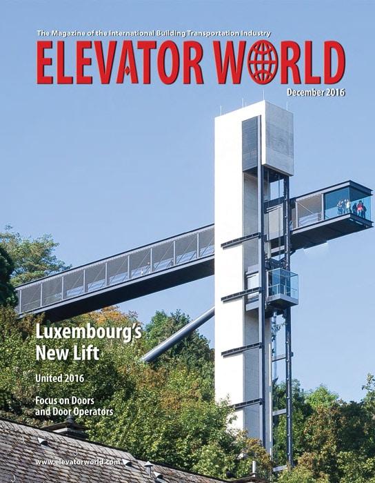 Elevator World | December 2016 Cover