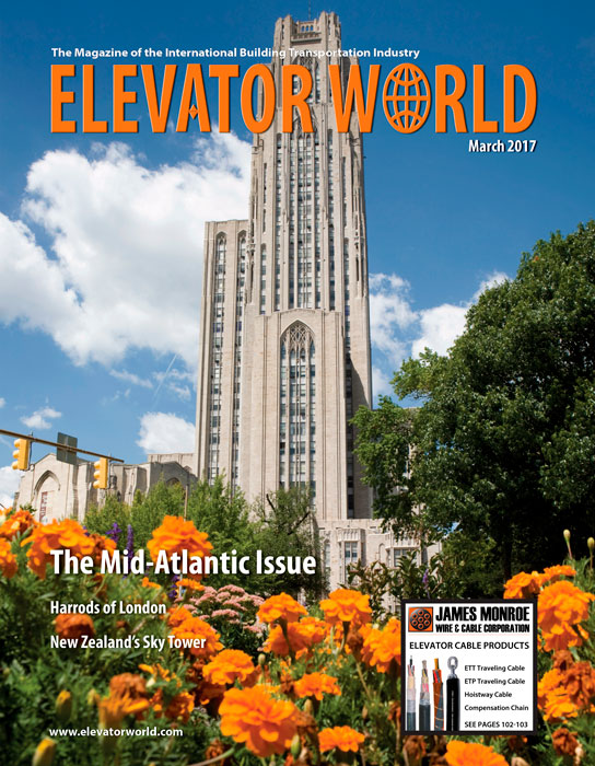 Elevator World | March 2017 Cover