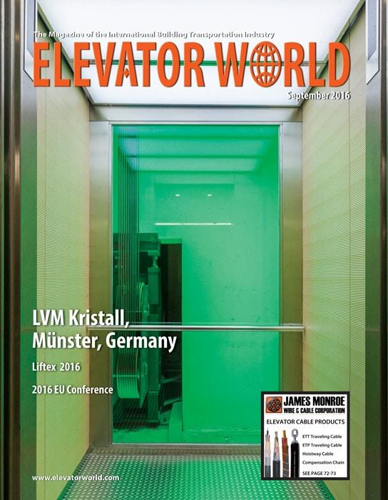 Elevator World | September 2016 Cover