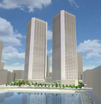 Tokyo Officials Approve Twin-Tower Residential Project