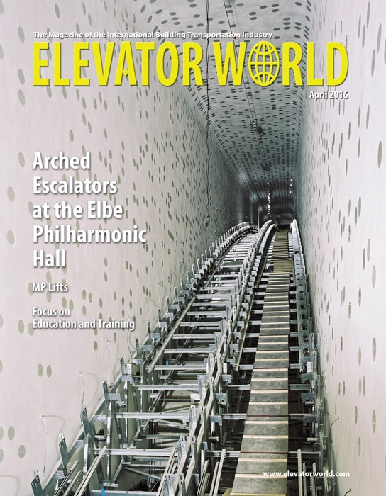 Elevator World | April 2016 Cover