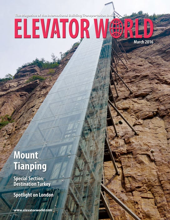 Elevator World | March 2016 Cover