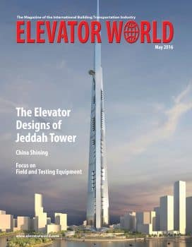 Elevator World | May 2016 Cover