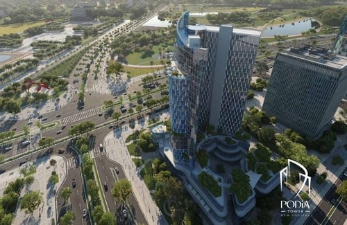 New Mixed-Use Tower With Modern Design In Egypt