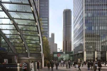 Plans Submitted for Canary Wharf Skyscraper In London