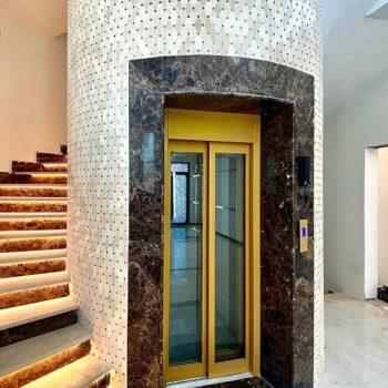 Golden Elevator on Round Shaft