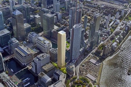 55-Story Residential Tower Plans in London's Canary Wharf