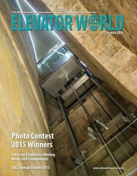 Elevator World | August 2015 Cover