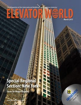 Elevator World | March 2015 Cover