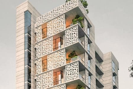 Giant Lifts for Upscale Apartment Tower in Dhaka