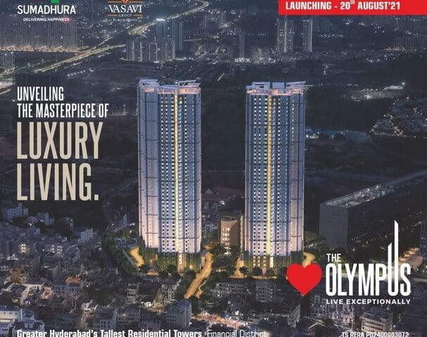 The Olympus to Become Hyderabad's Tallest Residential Tower
