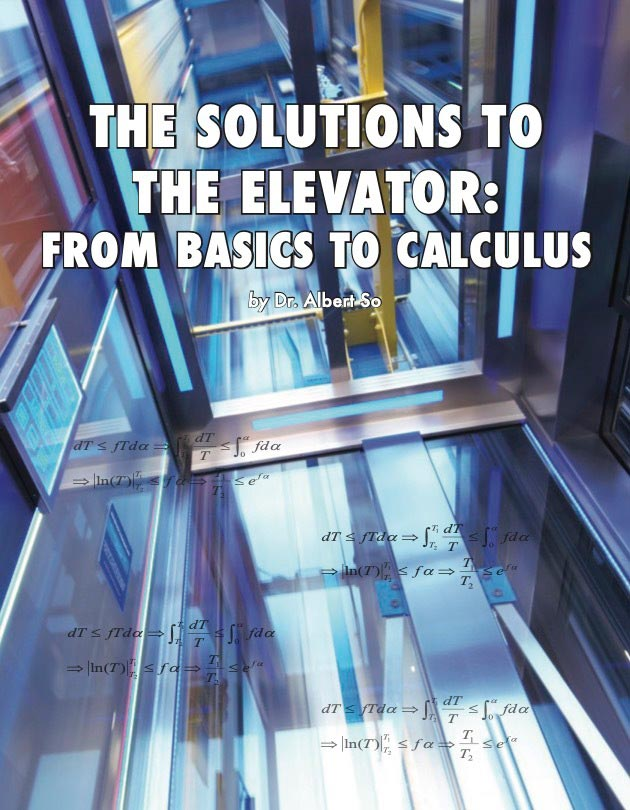 The Solutions to the Elevator: From Basics to Calculus - Cover
