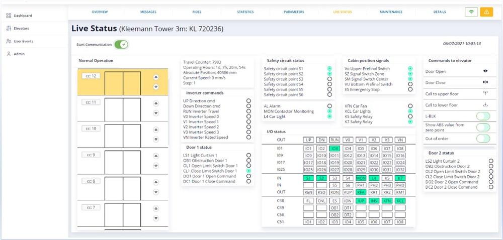 A Smart Platform for Real-Time Results - elevators_live_status